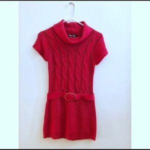 RED girls sweater dress size 10/12